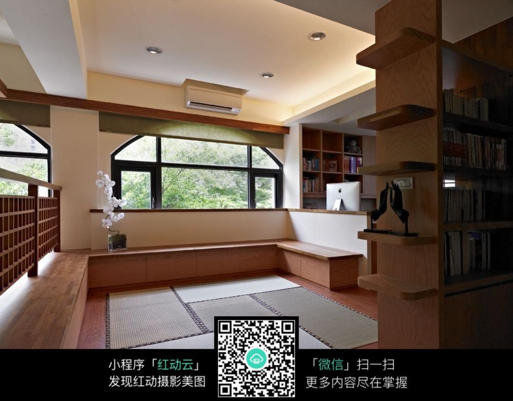 免费素材 图片素材 环境居住 室内设计 日式榻榻米休息区  请您分享