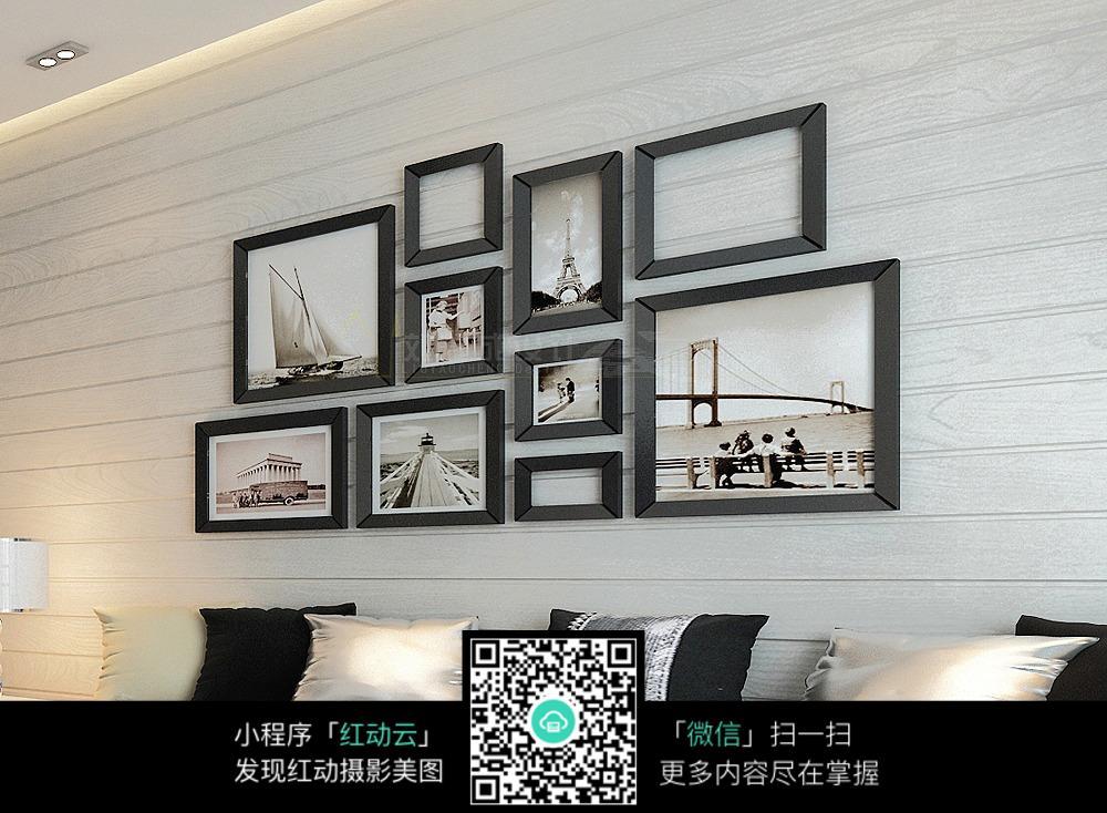 免費素材 圖片素材 環境居住 室內設計 沙發背景照片墻裝飾圖片  請您