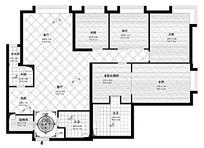 四室三厅两厨两卫室内设计平面布置图