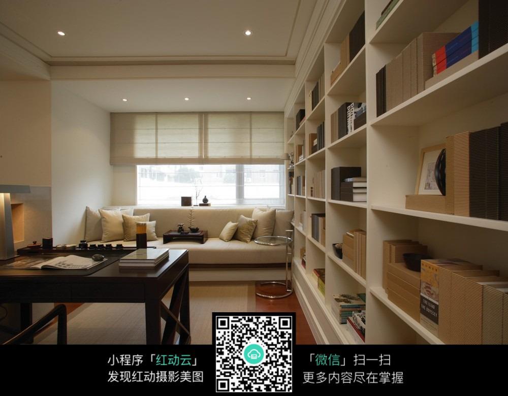 温馨清雅书房设计效果_室内设计图片图片
