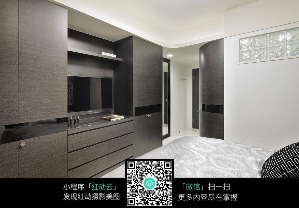 免费素材 图片素材 环境居住 室内设计 卧室电视柜