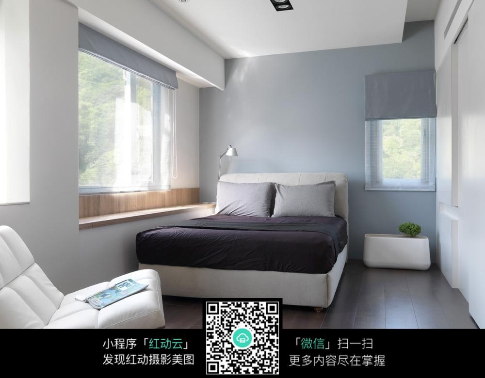 小空间双人床简装图片素材_室内设计图片