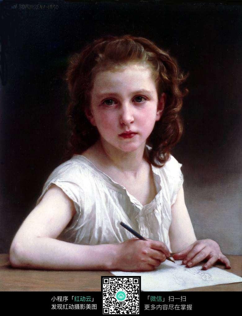 欧式手绘女生图片