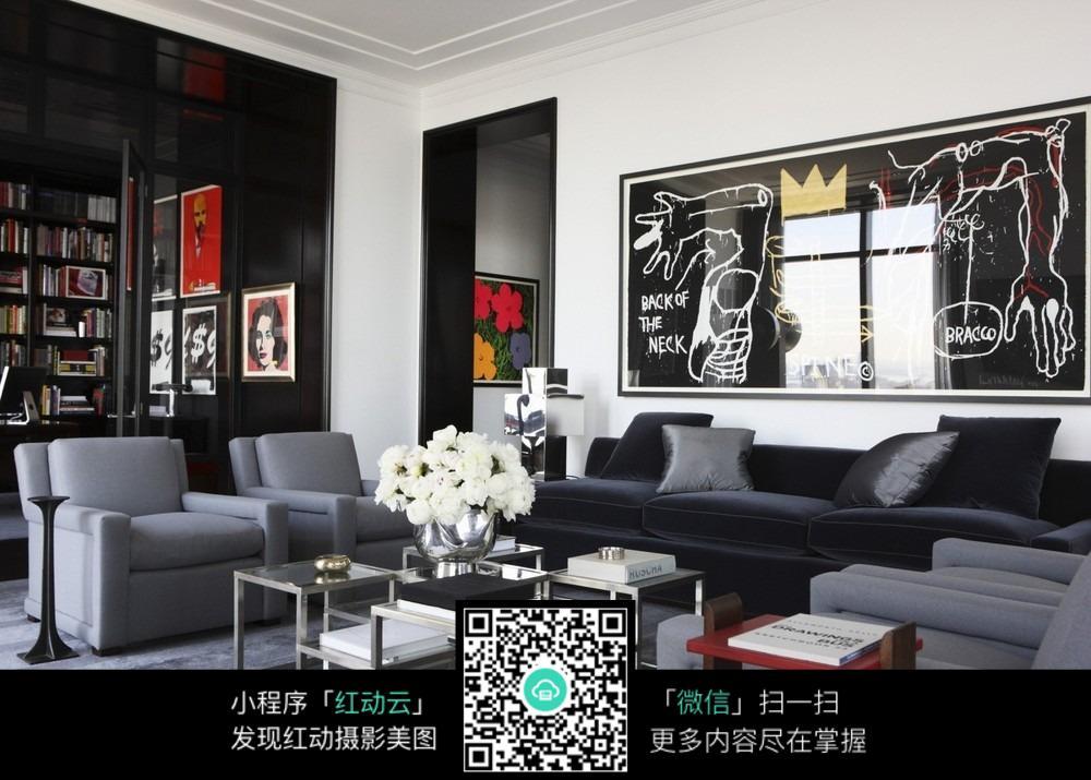高端大气客厅_室内设计图片
