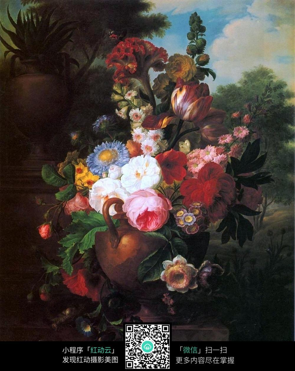 高清花卉写实油画图片免费下载 编号5348706 红动网