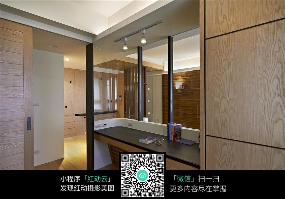 木制书桌_室内设计图片