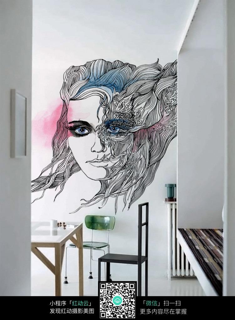 手绘墙效果_室内设计图片
