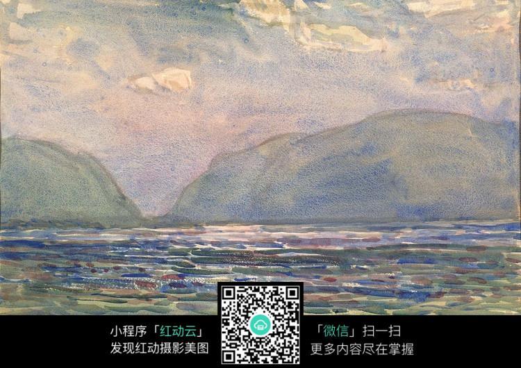 水彩手绘山水画