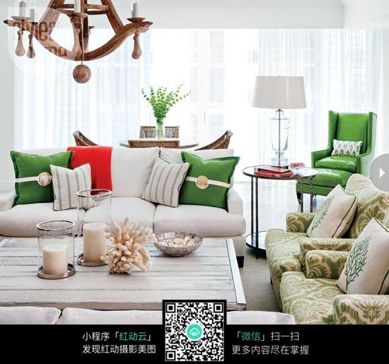 小清新蓝色沙发设计