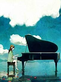 弹钢琴图片图片