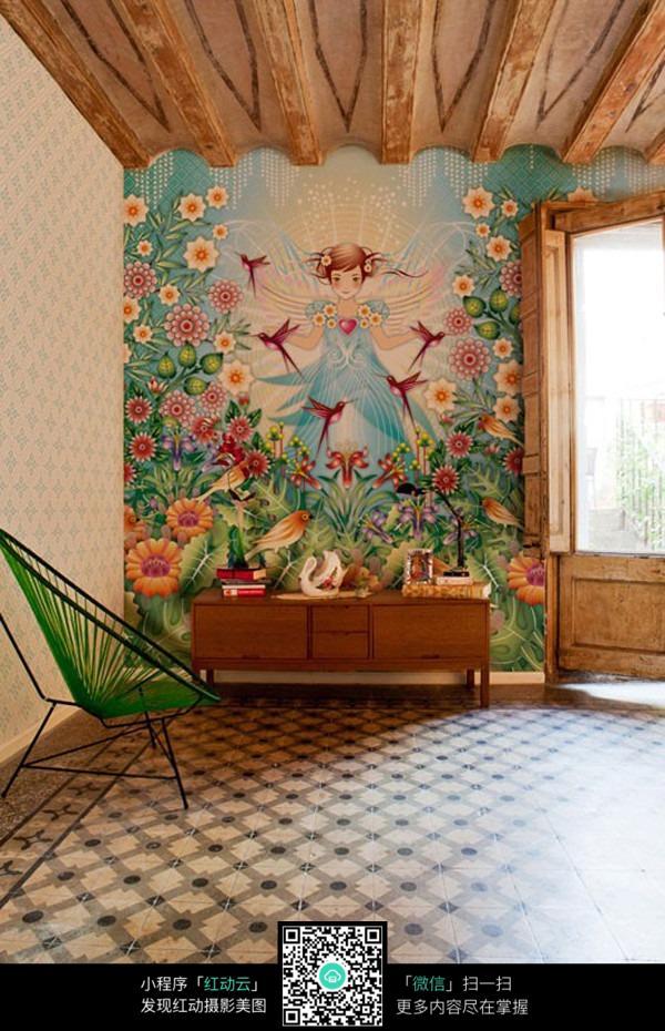 儿童房间墙面装饰图片_室内设计图片