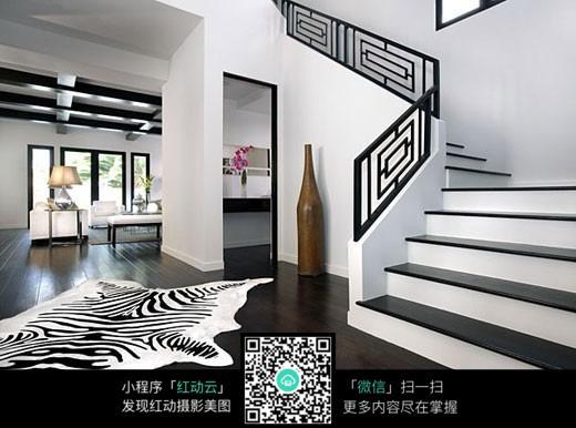 黑白楼梯图片素材