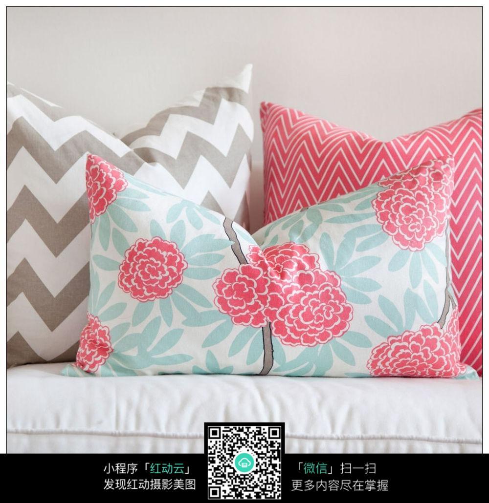花型抱枕_室内设计图片
