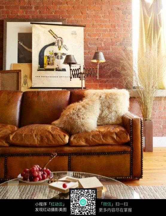 咖啡色沙发素材图片
