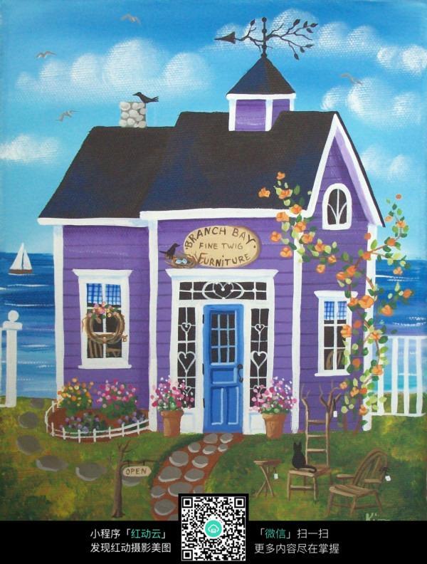 商业房屋海报手绘