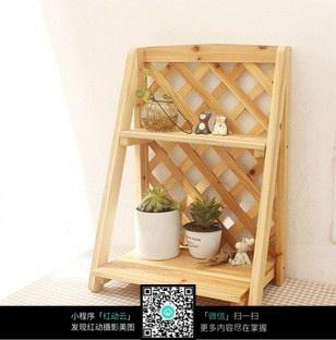 木制花盆架图片_室内设计图片