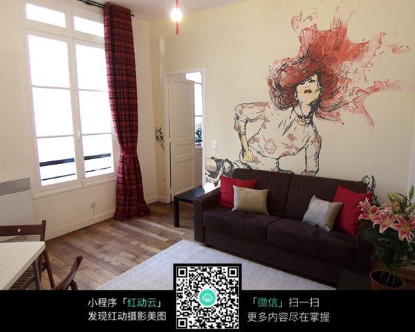 手绘墙壁效果_室内设计图片