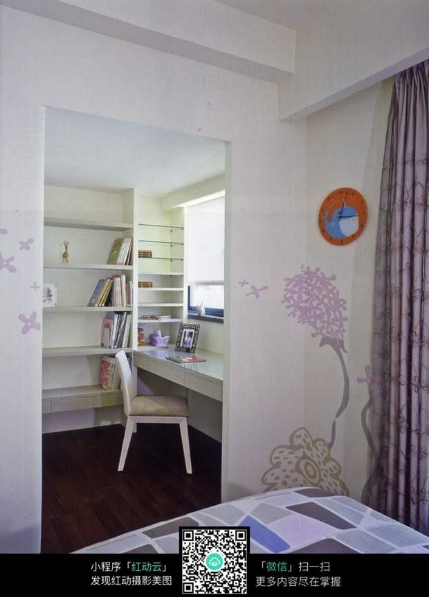 小书房简装效果图_室内设计图片