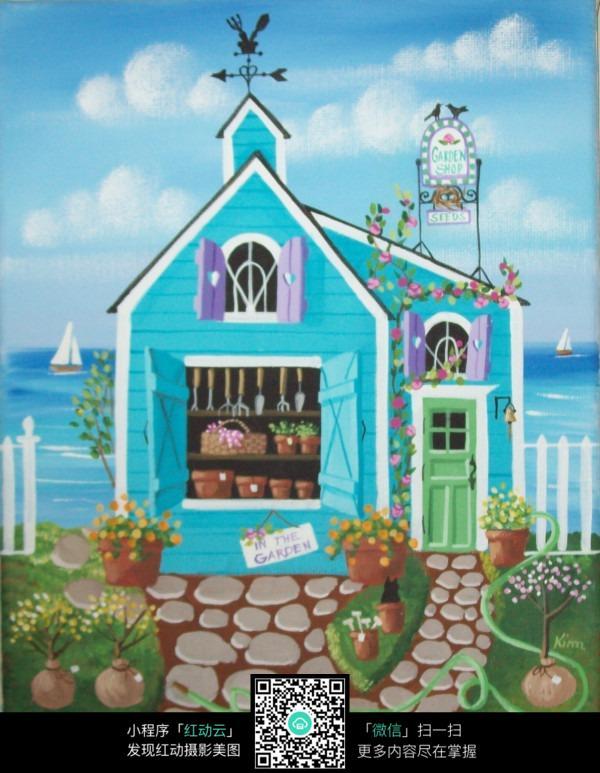 建筑房屋绘画图片