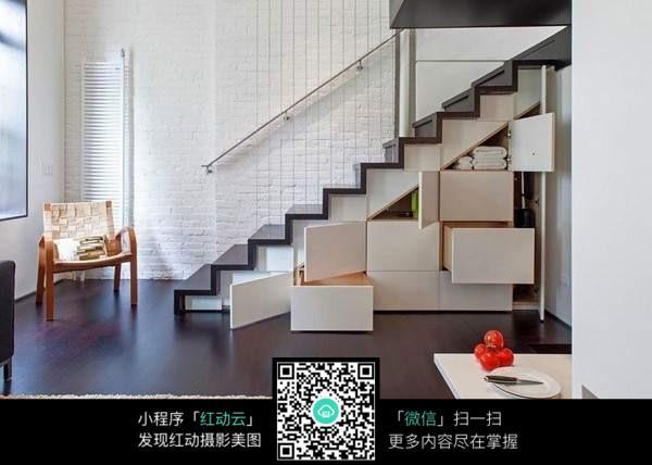 楼梯下空间柜子设计素材