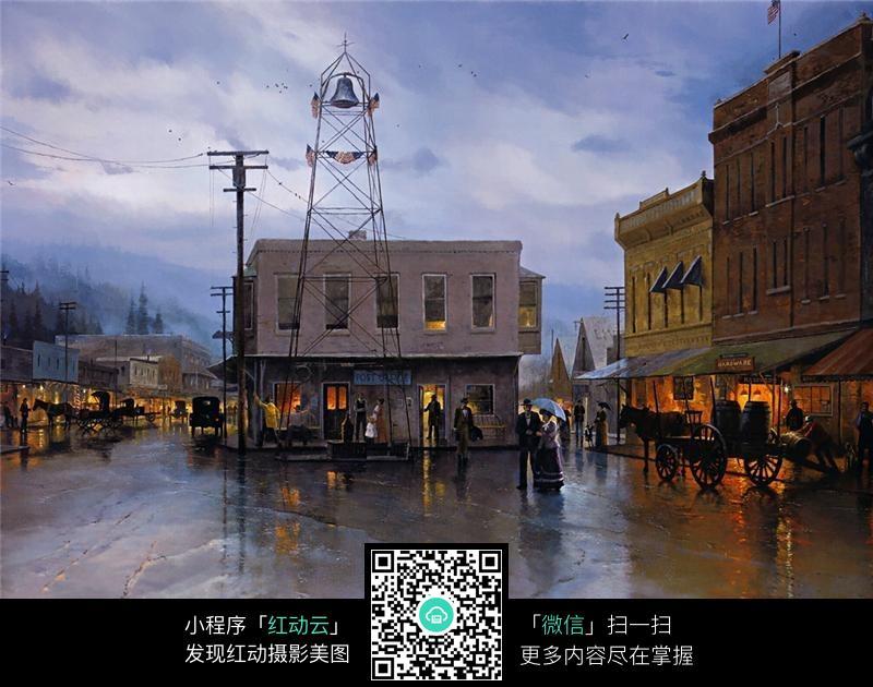 欧美街道风景装饰画图片免费下载 编号5352674 红动网