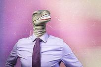 穿西装的人身蛇头