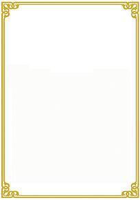 金色条纹线条边框图