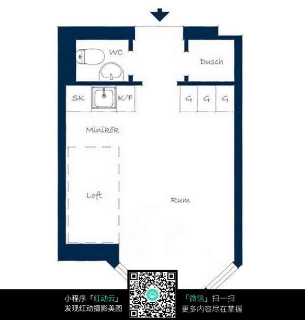 小户型空间布局装修平面图_室内设计图片