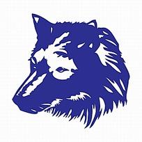 蓝色狼头logo设计图片