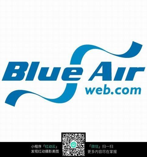 蓝色丝带效果电台logo图片