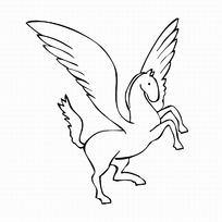 简笔画飞马logo设计图片