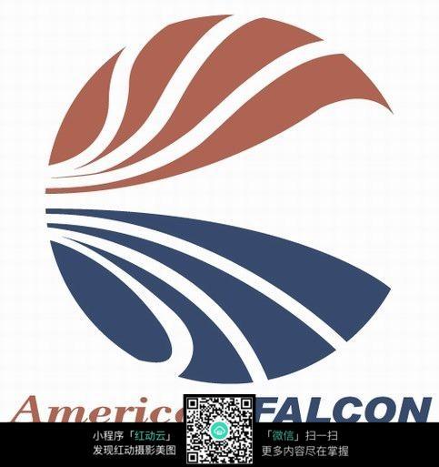 简易圆形镂空图形logo设计图片