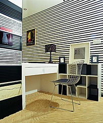 黑白条纹墙面装饰效果图