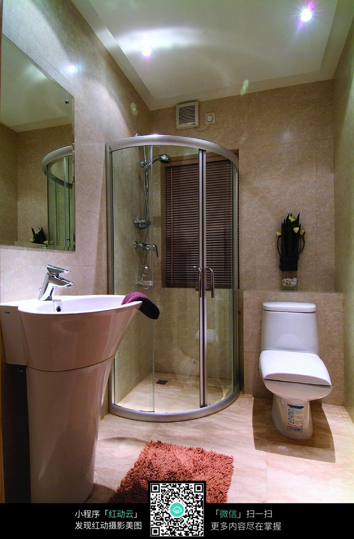 简洁雅致的卫生间设计图片