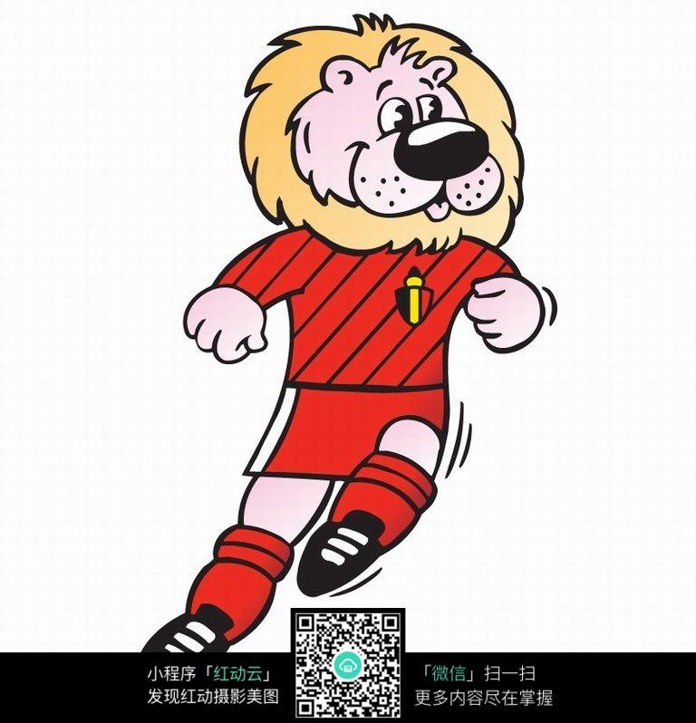 狮子头像卡通足球队联赛logo设计