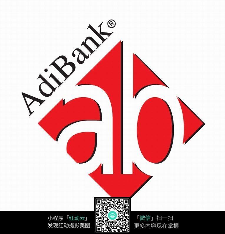 正方形红色镂空图案logo设计图片