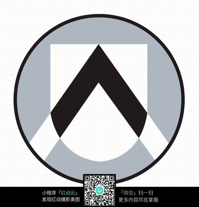 足球队圆形图标设计