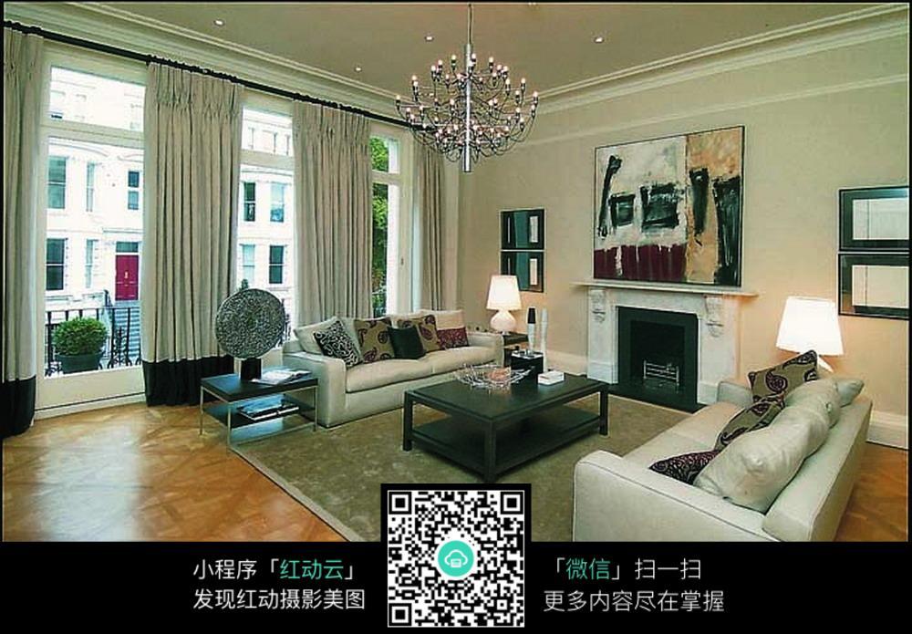 欧美风格客厅简装效果图片