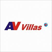 字母AV变形logo设计图片