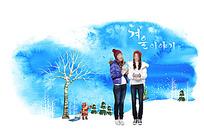 冬季美女服装广告