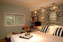 个性卧室背景墙装饰图片