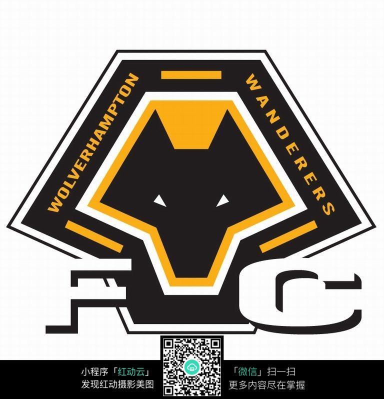 黑色狐狸面logo设计
