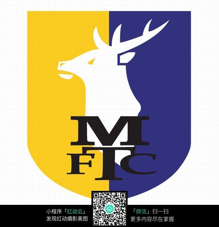 梅花鹿图案logo设计
