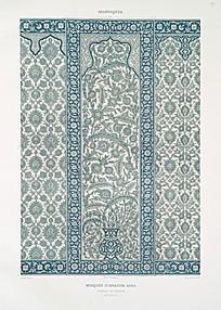 浅蓝色雅致壁纸墙贴图片
