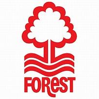 森林红色树木图案logo设计