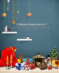 圣诞节装饰布置设计PSD分层模板