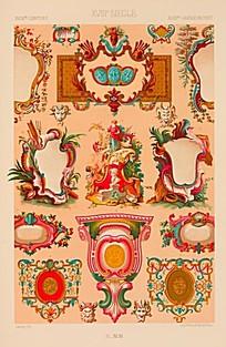 西方风格花纹边框装饰图片