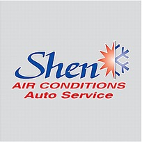 Shen空气条件汽车服务标志