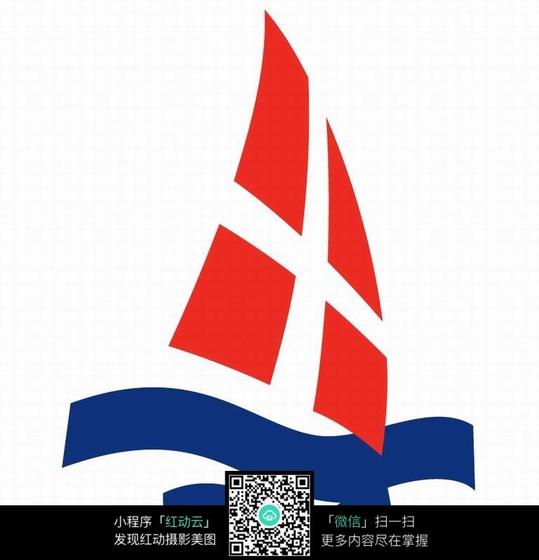 创意帆船足球队logo设计