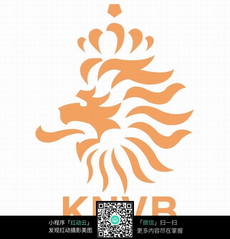 huangsedonggantupian_橘黄色龙头徽章设计图片素材